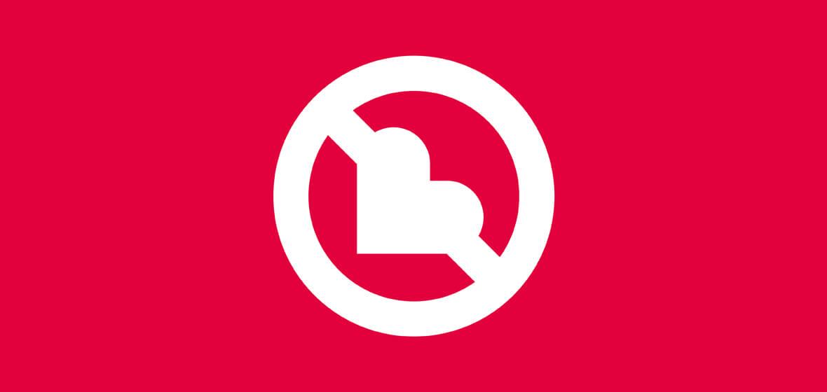 Baner serce/szlaban na seks
